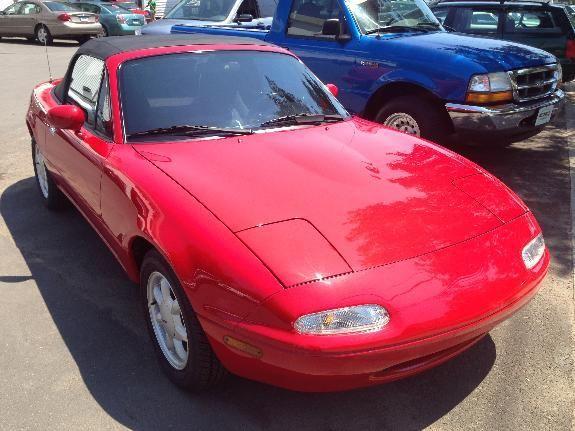 1990 Red Mazda Mx 5 Miata Convertible