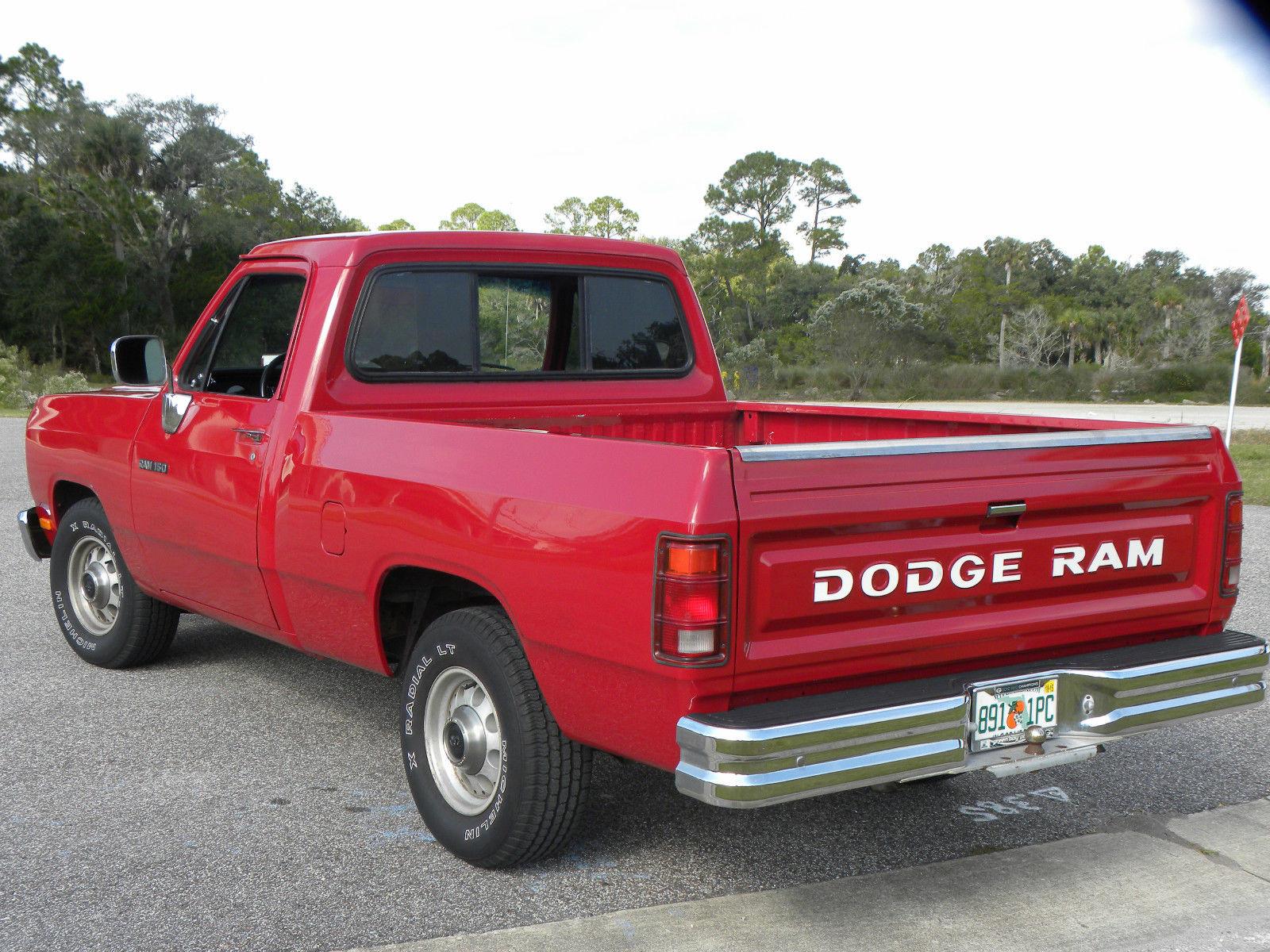 1991 dodge ram 1500 d150 red low miles very nice. Black Bedroom Furniture Sets. Home Design Ideas
