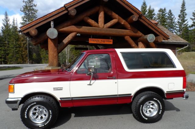 1991 ford bronco xlt rust free survivor extremely clean with 90