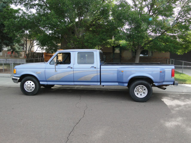 Ford F350 6 Door >> 1991 FORD F-350 CREW CAB XLT DUALLY 1 TON 4 door f250 Lariat xlt xl Nice truck!