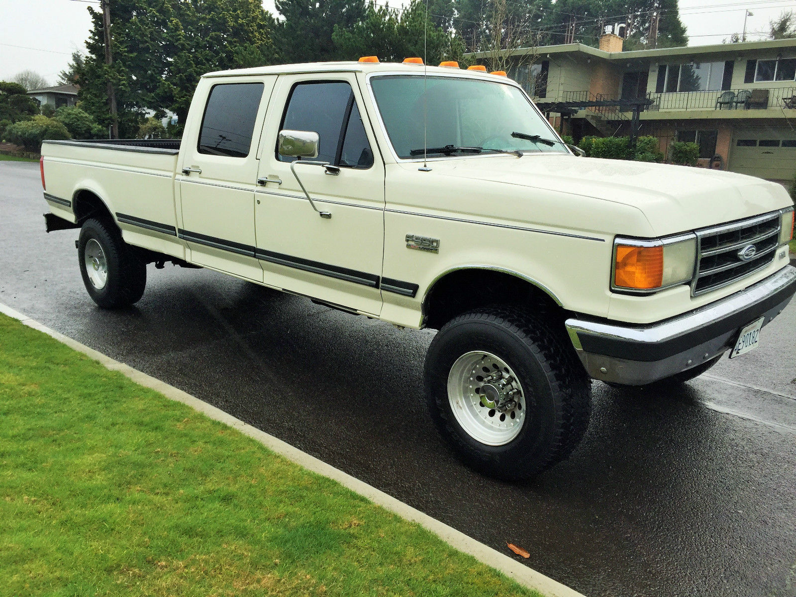 1991 Ford F350 Xlt Lariat Crew Cab Only 73000 Miles Chevrolet