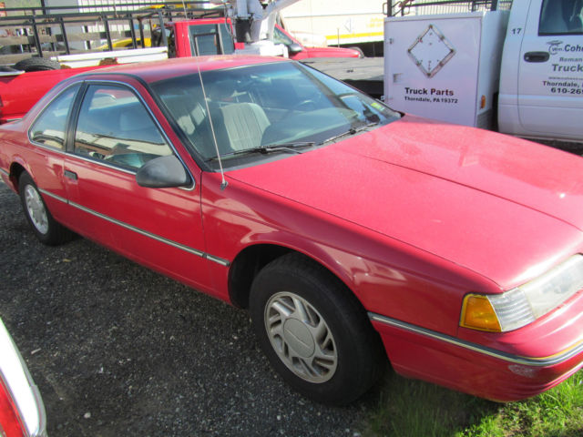 1991 Ford Thunderbird Red 2 Door Coupe
