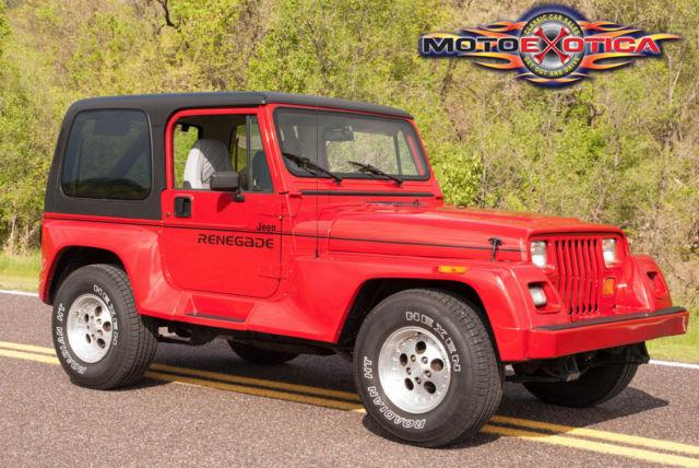 1991 jeep wrangler renegade optional hardtop with rear defroster. Black Bedroom Furniture Sets. Home Design Ideas