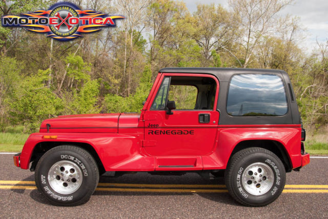 1991 jeep wrangler renegade optional hardtop with rear. Black Bedroom Furniture Sets. Home Design Ideas