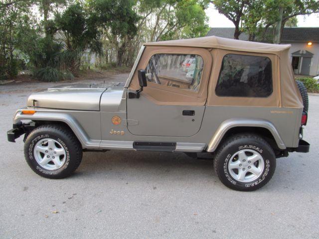 Nicest Jeep Wrangler >> 1991 Jeep Wrangler Sahara Sport Utility 2-Door 4.0L 4X4 Garage Kept Excellent NR