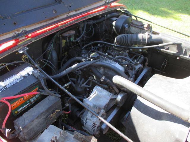 1991 jeep wrangler yj 2 5 4 cylinder manual trans 89 90 92. Black Bedroom Furniture Sets. Home Design Ideas