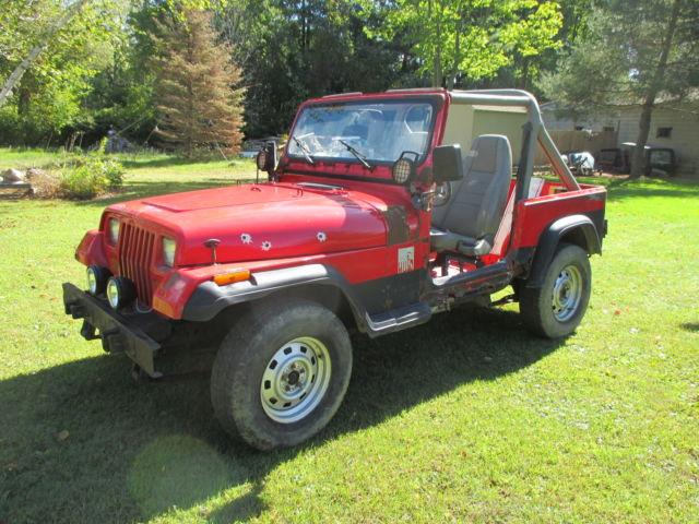 1991 jeep wrangler yj 2 5 4 cylinder manual trans 89 90 92 93 94 95 cj offroad a. Black Bedroom Furniture Sets. Home Design Ideas