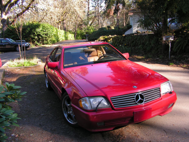 1991 mercedes benz 300sl r129 signal red new top 128k for 1991 mercedes benz 300sl