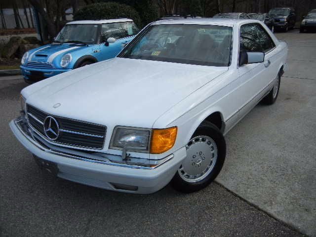 1991 mercedes benz 560 sec coupe177 752 miles arctic white for Mercedes benz midlothian