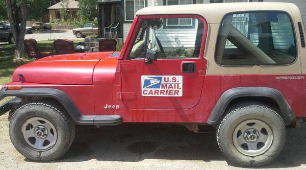 1991 Right Hand Drive Postal / Mail Jeep Wrangler FOR PARTS/REPAIR   NO  RESERVE!