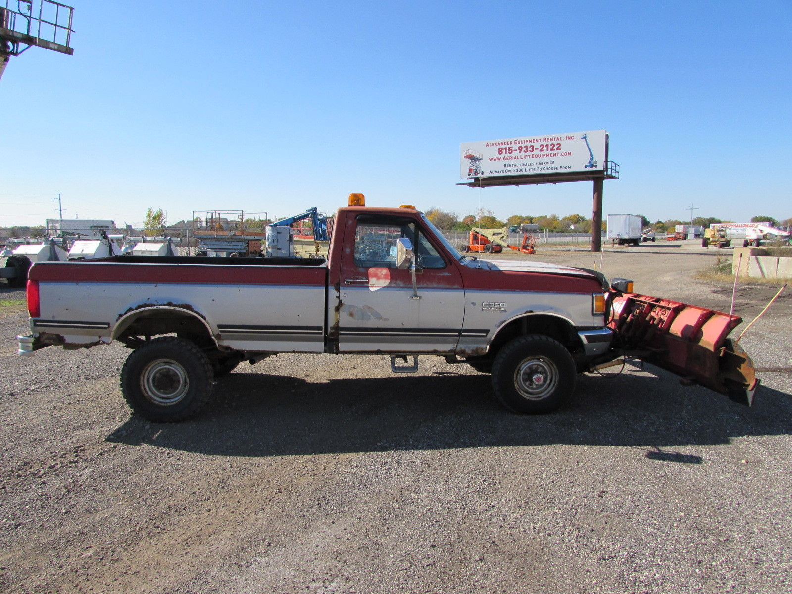 1991 Used Ford F350 Snow Plow Truck With Western Plow