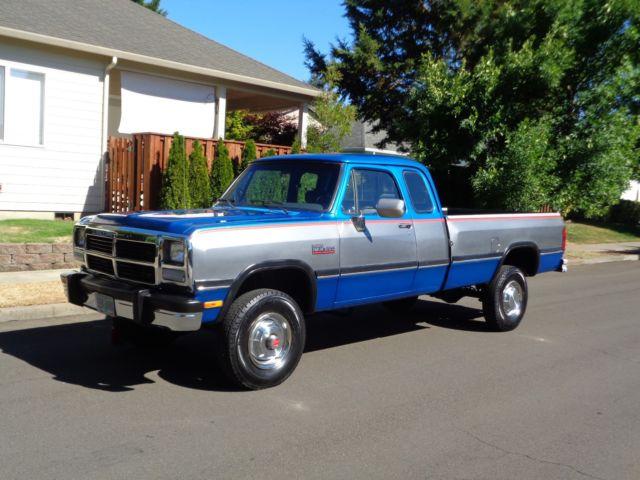 1992 Dodge Ram D250 2500 W250 4x4 Cummins Diesel Low Miles
