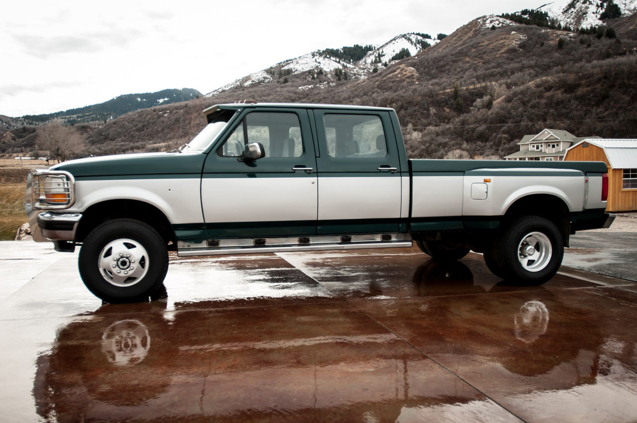 1992 ford f 350 xlt 4wd diesel crew cab 5 speed clean. Black Bedroom Furniture Sets. Home Design Ideas