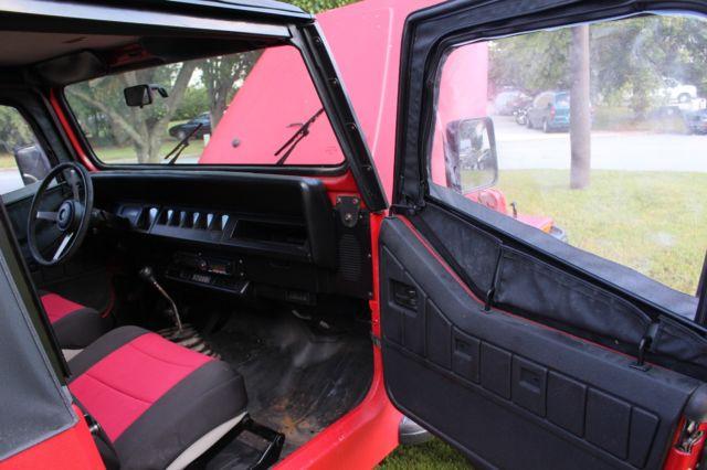 Jeep Wrangler For Sale In Ga >> 1992 Jeep Wrangler manual trans. w/ red-bed liner and black trim (77221 mi.)
