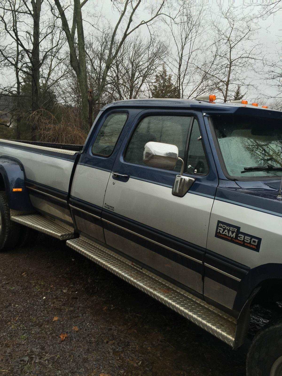 1993 dodge cummins turbo diesel dually pickup truck ext cab 4x4 low miles  113k !