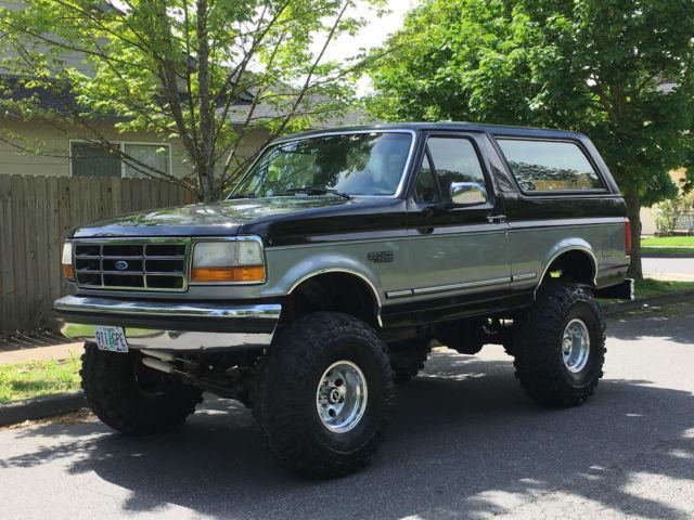 1993 Ford Bronco 4x4 Lifted 2dr 5.0L 302 V8 60k On Rebuilt Over Size 38' Tires