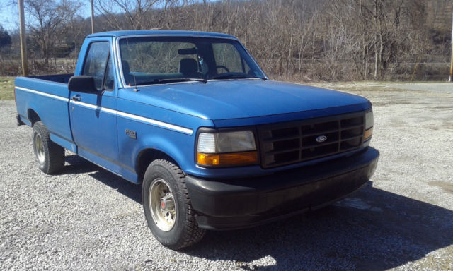 1993 ford f150 full size 8ft bed 2 wheel dr pickup truck for Ford f150 4 6 motor for sale