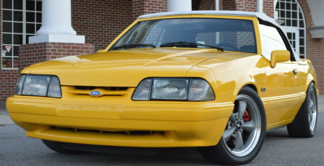 1993 Ford Mustang LX 5.0 Chrome Yellow Feature Car ...