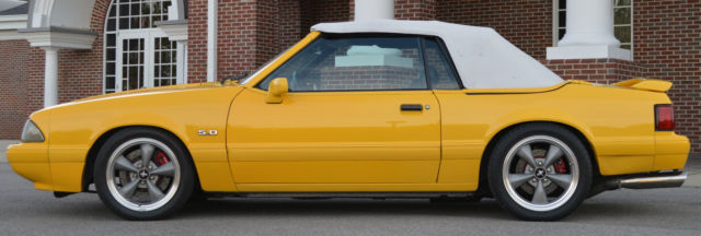 1993 ford mustang lx 5 0 chrome yellow feature car. Black Bedroom Furniture Sets. Home Design Ideas