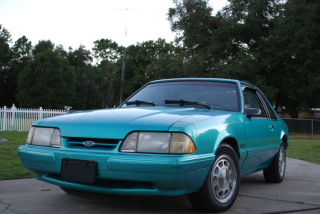 1993 ford mustang lx notchback coupe fhp ssp 1 of 3 calypso green rare police. Black Bedroom Furniture Sets. Home Design Ideas