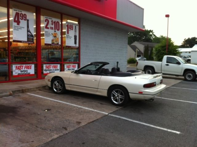 1993 nissan 240sx convertible with factory tonneau cover. Black Bedroom Furniture Sets. Home Design Ideas
