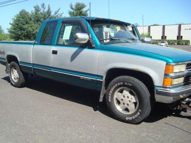1994 chevrolet k1500 silverado extended cab pickup 2 door 5 7l plow cheap truck. Black Bedroom Furniture Sets. Home Design Ideas