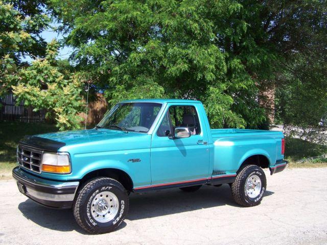 Ford F Xlt Regular Cab Flareside X Short Bed Truck L V Clean Rare on 1994 Ford F 150 Engine Size