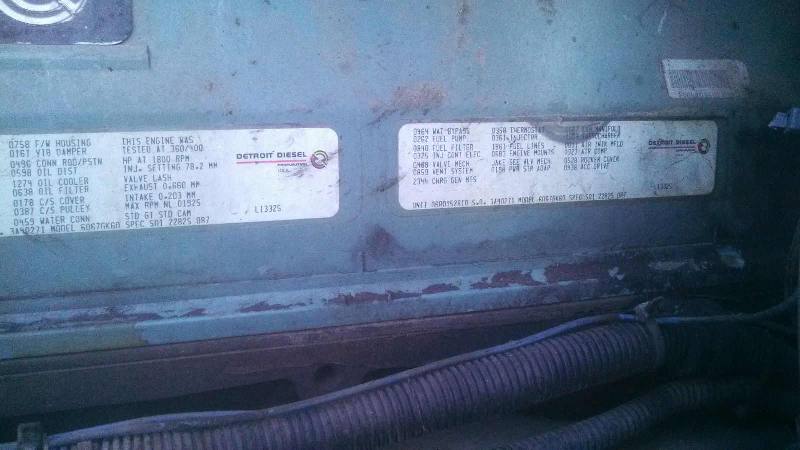 1994 Freightliner Coventional Sleeper Fuel Filter Housing