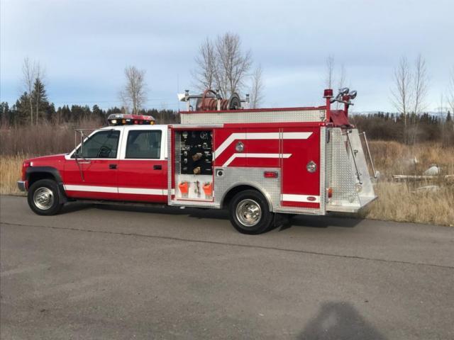 1994 GMC 3500 4x4 Mini Pumper, Brush , Rescue truck!