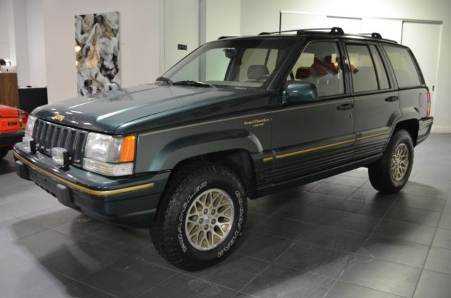 1994 jeep grand cherokee limited 69650 miles hunter green metallic suv v8 5 2l a. Black Bedroom Furniture Sets. Home Design Ideas