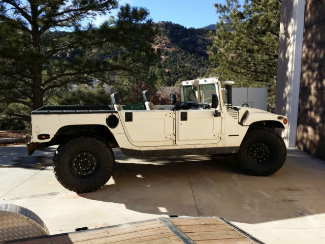 1995 amg hummer h1 open top with half doors for Colorado springs motor vehicle registration