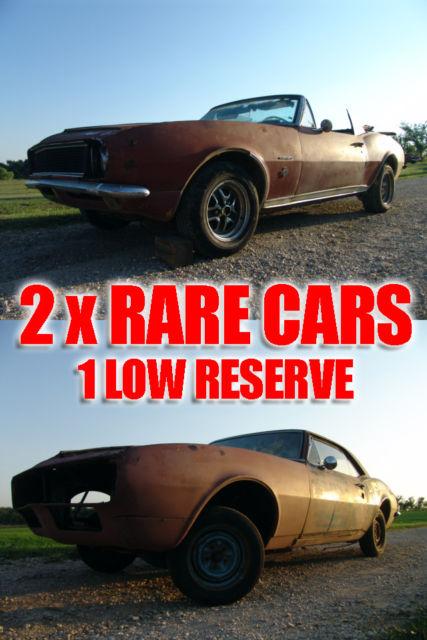2 X Rare 1967 Camaros S Match Rs Ss 350 Convertible