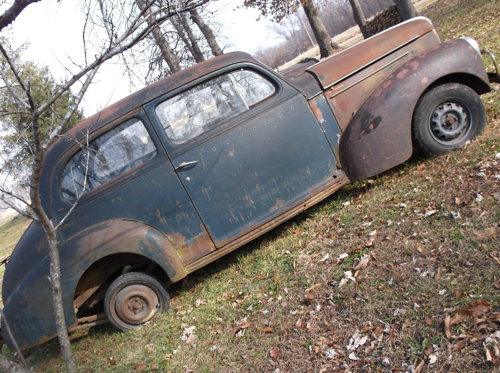 40 STUDEBAKER 2 DR BARN FIND RAT ROD VINTAGE STOCK CAR PROJECT GASSER PARTS