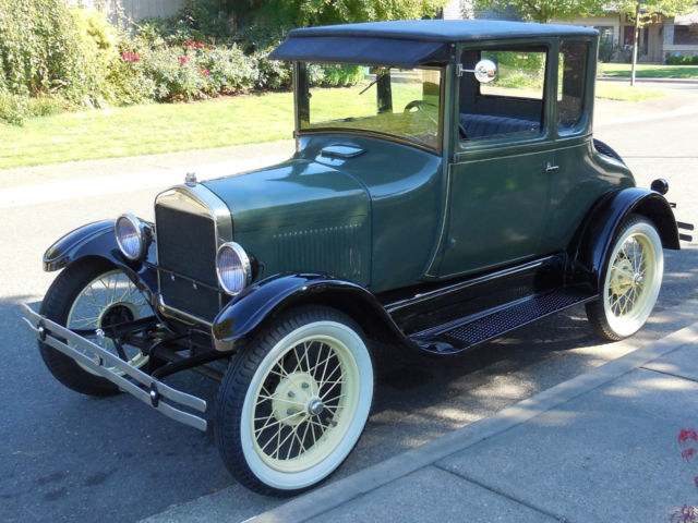 4thowner 1927 ford model t coupe with original california pink slip. Black Bedroom Furniture Sets. Home Design Ideas