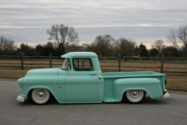 56 Chevy Truck 3100 Magazine Cover Bagged Air Ride Resto