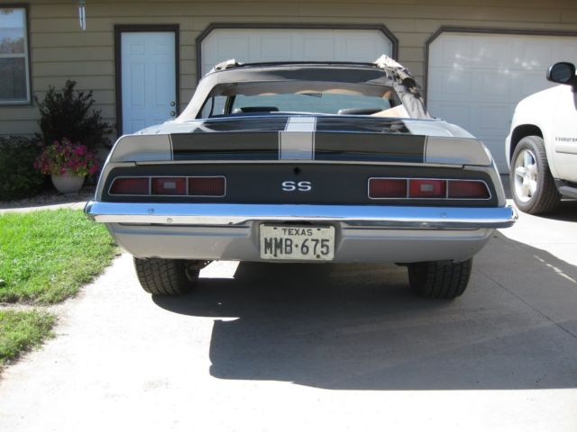 69 Camaro SS 396 4 speed convertible rock solid project