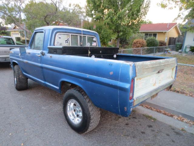 70 1970 ford f100 4x4 short bed v8 4 speed california truck. Black Bedroom Furniture Sets. Home Design Ideas