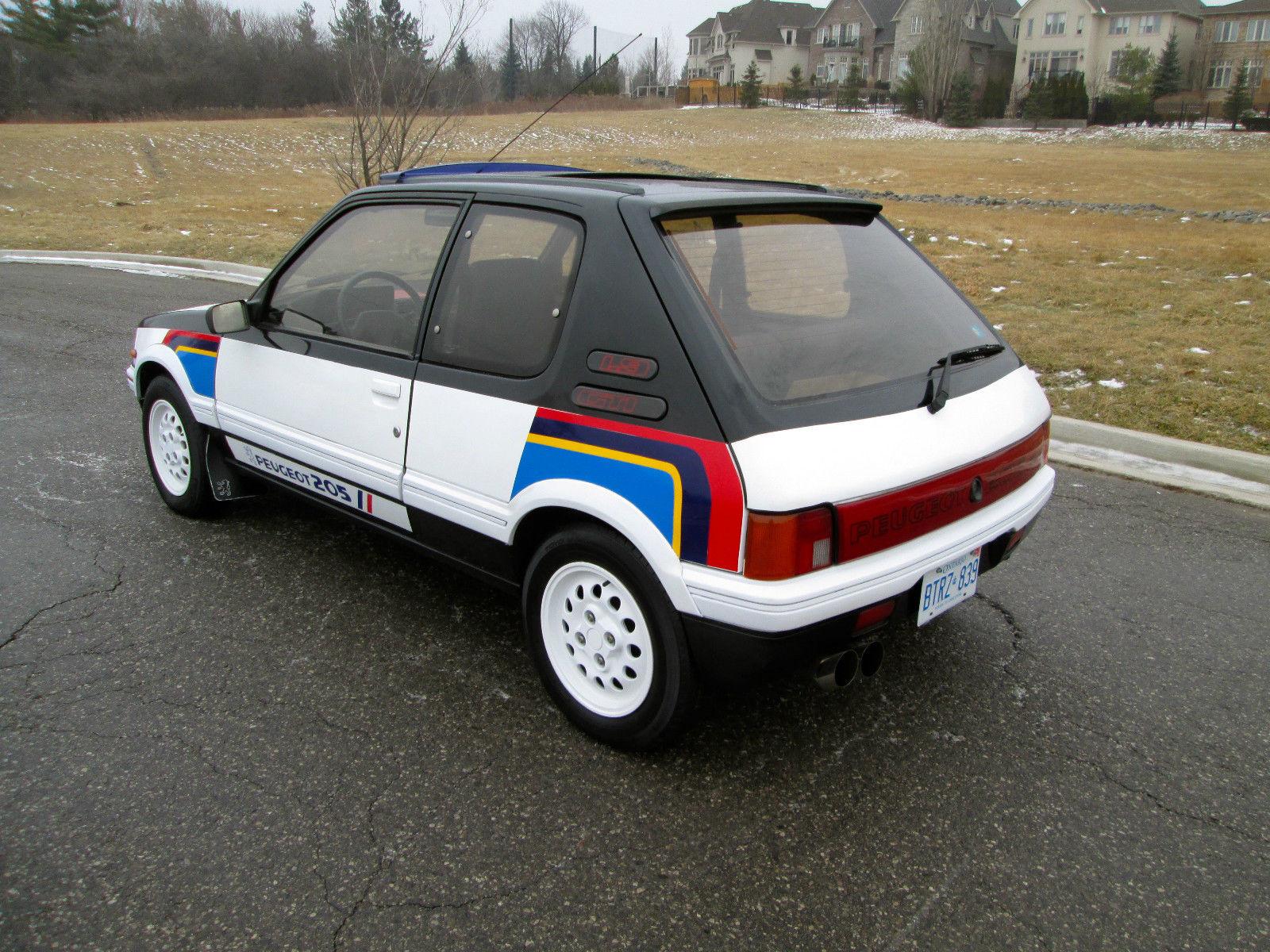88 peugeot 205 gti 1 9 rally stripes 33k orig miles timecapsule norust usa legal. Black Bedroom Furniture Sets. Home Design Ideas