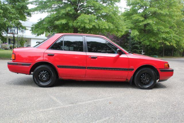 92 mazda protege 5spd 86 500 miles clean car fax service records ny inspection classicvehicleslist com