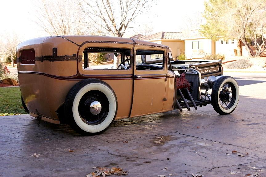 930 Ford Model A Tudor Sedan Hot Rod, Rat Rod, Traditional, Flathead