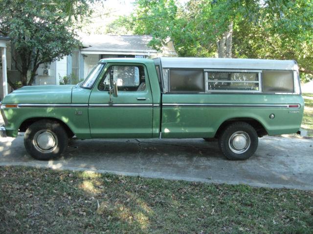 All Original 1973 Ford F100 Pickup Truck W Camper Shell