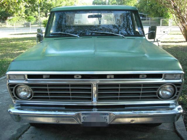 all original 1973 ford f100 pickup truck w camper shell. Black Bedroom Furniture Sets. Home Design Ideas