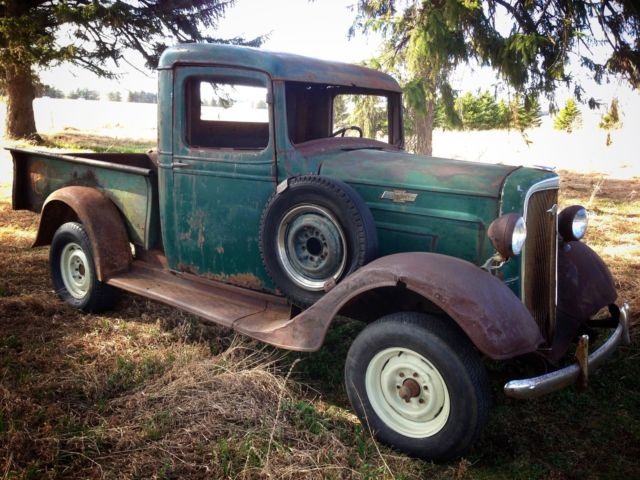Barn Find 1936 Chevrolet 1 2 Ton Pickup Truck Patina Hot