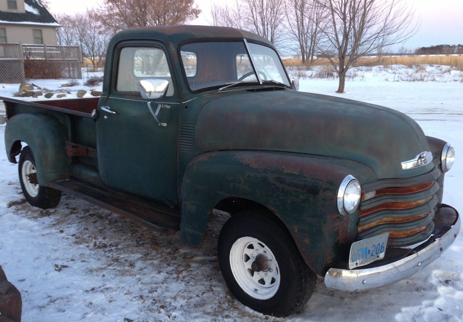 barn find 1950 chevrolet 3600 pickup truck patina hot rat rod gmc 1947 1953. Black Bedroom Furniture Sets. Home Design Ideas