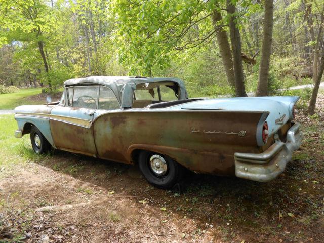 Barn Find 1957 57 Ford Fairlane 500 Convertible