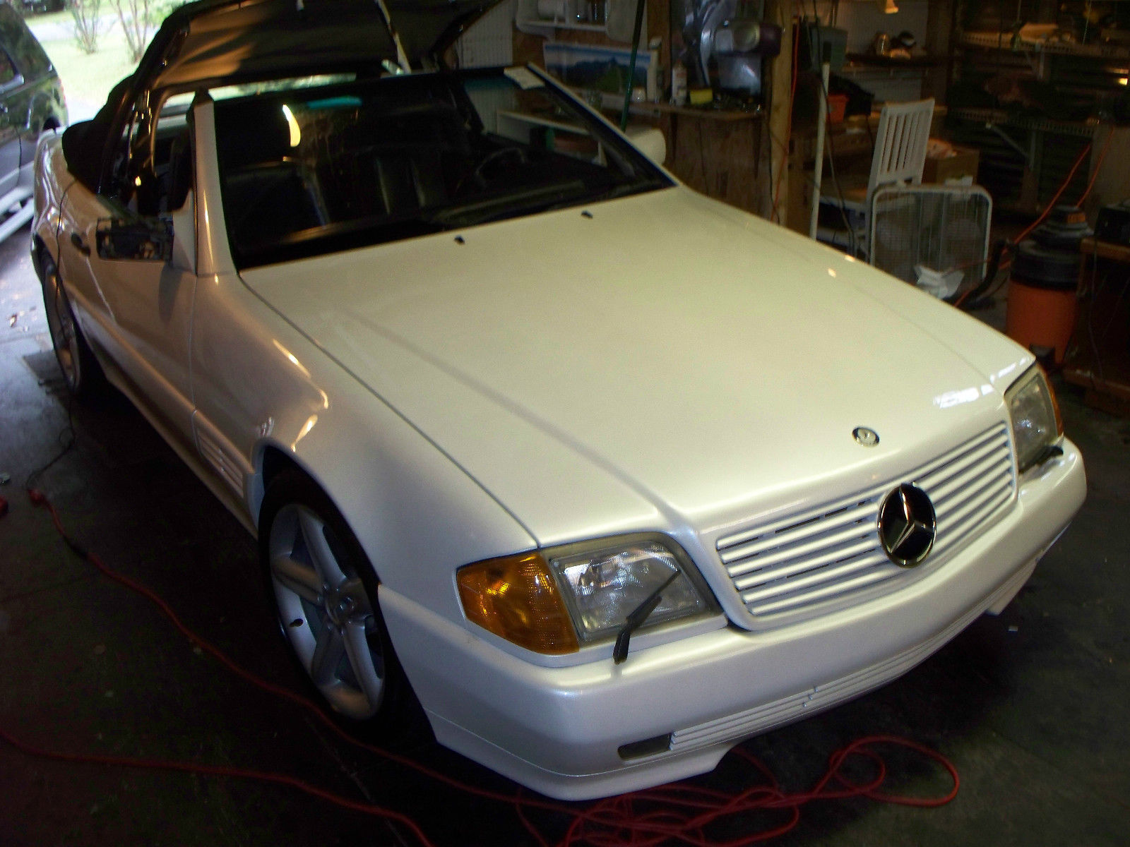 Beautiful white 1992 mercedes sl 300 convertible for Mercedes benz for sale charlotte nc