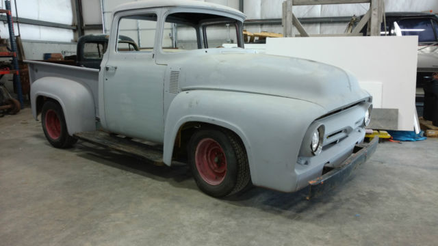 Big back window 1956 f100 rat rod hot rod project factory for 1956 ford f100 big window truck for sale