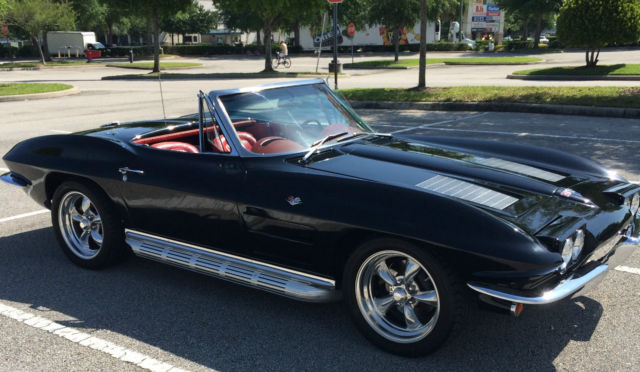 black 1963 corvette stingray w removable hardtop convertible soft. Cars Review. Best American Auto & Cars Review