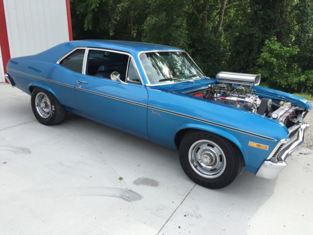 Blown 1971 Chevy Ii Chevrolet Nova Blower Supercharger Supercharged Pro Touring
