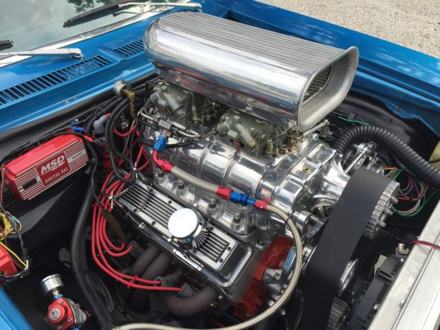 Blown 1971 Chevy II Chevrolet Nova Blower, Supercharger Supercharged Pro Touring